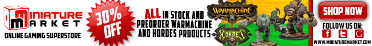 30% Off All Warmachine/Hordes!